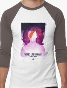 THERE'S LIFE ON MARS. Men's Baseball ¾ T-Shirt