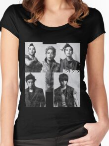 Big Bang in Black & White Women's Fitted Scoop T-Shirt
