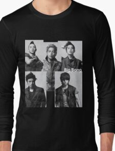 Big Bang in Black & White Long Sleeve T-Shirt