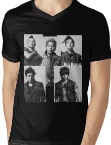 Big Bang in Black & White Mens V-Neck T-Shirt