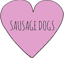 SAUSAGE DOG LOVE by Bundjum