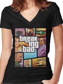 Breaking Bad 5 Women's Fitted V-Neck T-Shirt