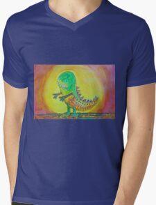 The World's Nicest Dinosaur Mens V-Neck T-Shirt