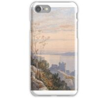 James Burrell Smith,  VIEW OF CASTLE URQUHART ABOVE LOCH NESS iPhone Case/Skin