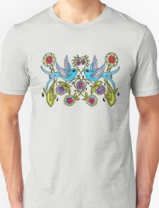 Sparrows and Hearts Unisex T-Shirt