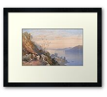 James Burrell Smith,  VIEW OF CASTLE URQUHART ABOVE LOCH NESS Framed Print