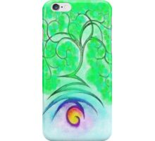 Lightning Tree Poster iPhone Case/Skin