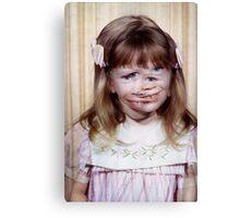 35mm Found Slide Composite - Mutant Girl Canvas Print