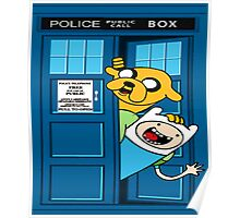 Adventure time police box Poster