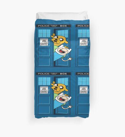 Adventure time police box Duvet Cover