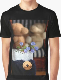 Bear's Blue Country Holidays Graphic T-Shirt