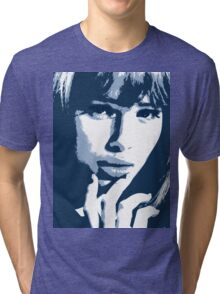 Love Blue - beautiful girl with erotic eyes Tri-blend T-Shirt