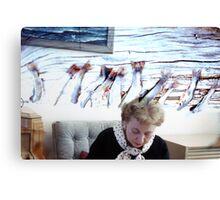 35mm Found Slide Composite - Fish Lady Canvas Print