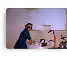 35mm Found Slide Composite - Bird Lady Canvas Print