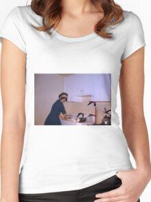35mm Found Slide Composite - Bird Lady Women's Fitted Scoop T-Shirt