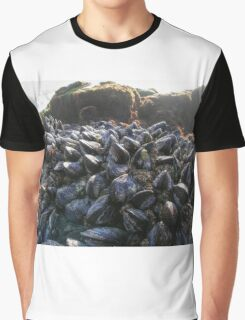 Mussels On A Rock Graphic T-Shirt