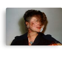 35mm Found Slide Composite - Mutant Lady Canvas Print