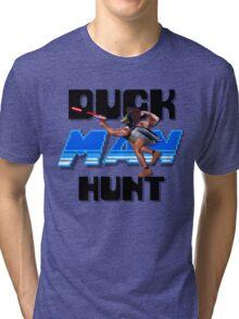 Duckman Hunt 8 Bit Retro Tri-blend T-Shirt