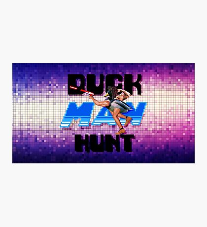 Duckman Hunt 8 Bit Retro Photographic Print