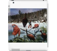 35mm Found Slide Composite - Snow Flamingos iPad Case/Skin