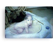 35mm Found Slide Composite - Mantis Baby Canvas Print