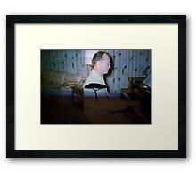 35mm Found Slide Composite - Piano Tree Framed Print