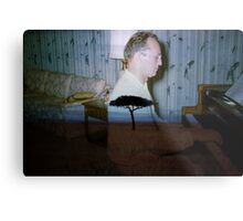 35mm Found Slide Composite - Piano Tree Metal Print