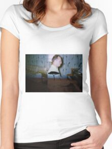 35mm Found Slide Composite - Piano Tree Women's Fitted Scoop T-Shirt