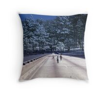 35mm Found Slide Composite - Tree Bridge Throw Pillow