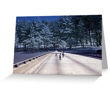 35mm Found Slide Composite - Tree Bridge Greeting Card