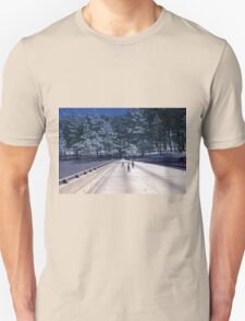 35mm Found Slide Composite - Tree Bridge Unisex T-Shirt