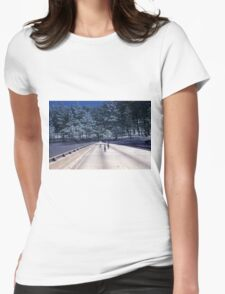 35mm Found Slide Composite - Tree Bridge Womens Fitted T-Shirt