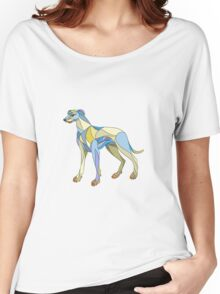Greyhound Dog Side Mosaic Women's Relaxed Fit T-Shirt