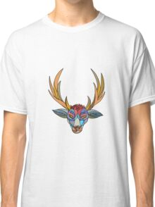 Red Stag Deer Head Mosaic Classic T-Shirt