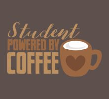 Student powered by coffee Kids Clothes