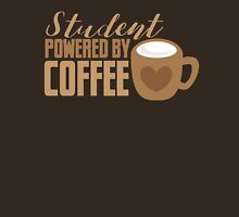 Student powered by coffee Womens Fitted T-Shirt