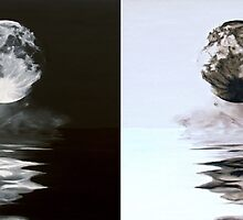 The Full Moon Inverted Reflection by Elisabeth Dubois