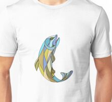 Trout Jumping Up Mosaic Unisex T-Shirt