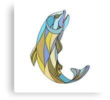Trout Jumping Up Mosaic Metal Print