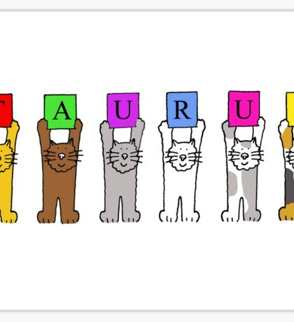 Taurus cats for cat lovers. Sticker