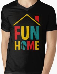 Fun Home Logo Mens V-Neck T-Shirt