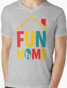 Fun Home Logo Mens V-Neck T-Shirt
