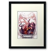 Anime Girl On The Rocks Framed Print