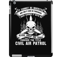 Always Vigilant Air Force  America Auxiliary of the United States Air  iPad Case/Skin