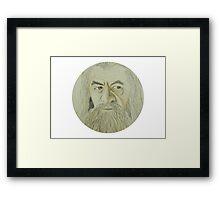 Gandalf Watercolour Framed Print