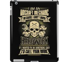 aircraft mechanic car mechanic t shirts auto mechanic t shirts iPad Case/Skin
