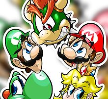 Mario Bros Stickers  by Dobi-Dobi