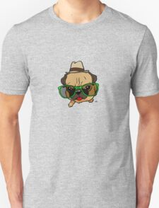 Cartoon Hipster pug dog shirt2. T-Shirt