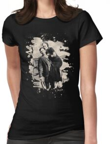 Bonnie & Clyde (bleached look) Womens Fitted T-Shirt