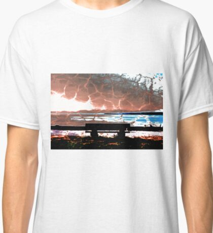 Water Takes over the Beach Bench Classic T-Shirt